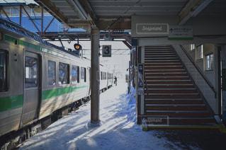雪,駅,雪景色,ホーム,地元,故郷,車掌さん,駅員さん