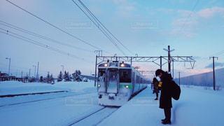 雪に覆われた鉄道の写真・画像素材[1746227]