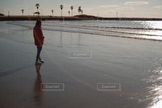 のんびりな夕陽の写真・画像素材[3401214]
