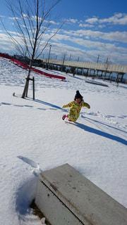 雪にダイブの写真・画像素材[1748125]
