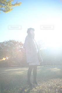 秋,光,人物,逆光,人,未来,Cute,ポジティブ,希望,若い女性,若い女の子