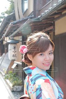 京都で着物の写真・画像素材[1680008]