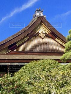 京都御所、小御所の屋根の写真・画像素材[1683103]