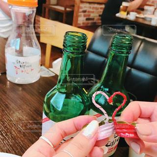 グラス,焼酎,乾杯,ドリンク,女子会,新大久保,韓国焼酎,ソジュ