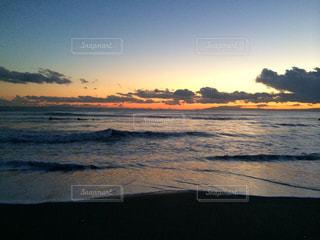 自然,海,空,秋,夕日,景色