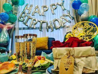 It's my birthday party in my house 🥳の写真・画像素材[3956393]