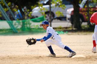 野球の試合をプレイ中の写真・画像素材[1533861]