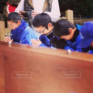 野球チームの初詣の写真・画像素材[1737639]
