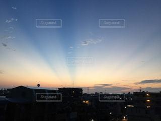 空,秋,太陽,雲,朝焼け,グラデーション