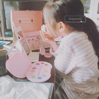 ピンク,室内,子供,女の子,人物,人,化粧