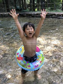 夏,驚き,水遊び,サプライズ,びっくり
