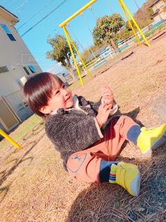 男性,子ども,公園,屋外,人物,人,笑顔,男の子,息子,1歳