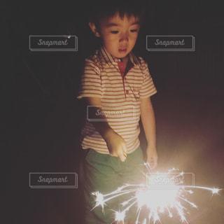 始めての花火。の写真・画像素材[1461427]