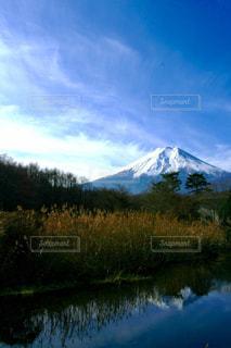 背景の山と水体の写真・画像素材[1469314]