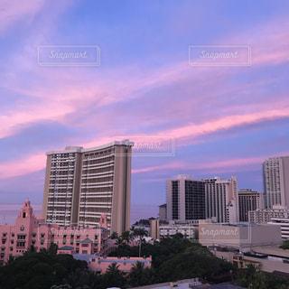 空,ピンク,ハワイ,ホノルル,ピンクパレス