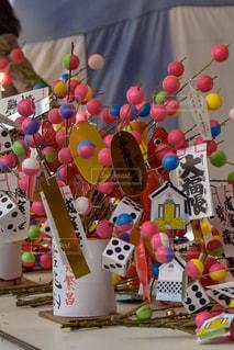 ピンク,めでたい,団子,縁起物,賑やか,華やか,飾り,縁日,熊野,商売繁昌