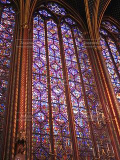 サントシャペル教会のステンドグラスの写真・画像素材[1593936]