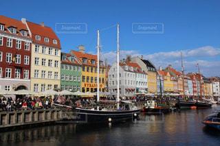 デンマークニューハウンの美しくカラフルな景色の写真・画像素材[1819788]