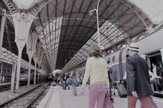 想い出でのニース駅を懐かしい雰囲気での写真・画像素材[2479100]