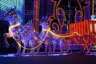 キラキラ可愛い光の馬車の写真・画像素材[2625938]