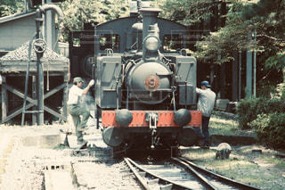 レトロな蒸気機関車の写真・画像素材[2849204]