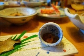 趣きある美しい器と日本料理の写真・画像素材[3858161]