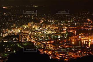 長崎佐世保の夜景の写真・画像素材[4067637]