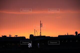 アムステルダムの美しい夜空の写真・画像素材[4123839]