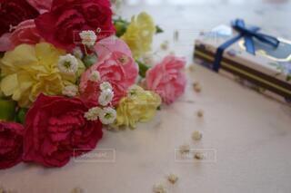 心嬉しいプレゼントに感謝の写真・画像素材[4207475]