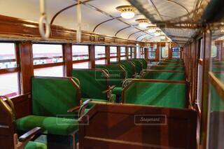 レトロな列車の内装の写真・画像素材[4813940]