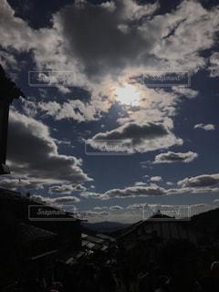 風景,空,雲,日差し,旅行,長野県,秋空,馬籠宿,インスタ映え