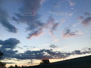 風景,空,屋外,雲,夕焼け,オレンジ,秋空