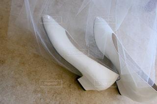 靴,白,結婚式,床,ベール