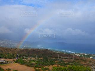 自然,空,屋外,虹,旅行,ハワイ,ダイヤモンドヘッド