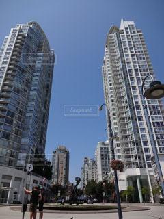 空,建物,屋外,タワー,都会,高層ビル,カナダ,バンクーバー,日中
