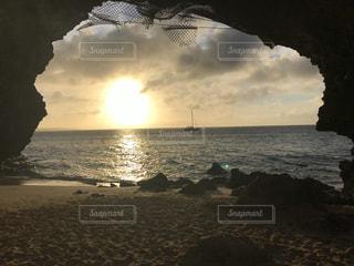 空,夕日,屋外,太陽,ビーチ,海岸,沖縄,光,宮古島