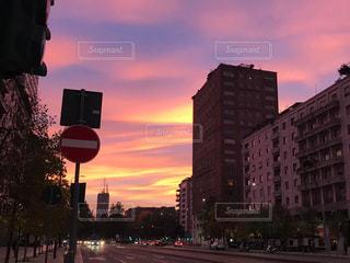 風景,空,秋,雲,夕焼け,夕暮れ,イタリア,秋空,ミラノ,秋の空,秋の味覚,イタリア旅行
