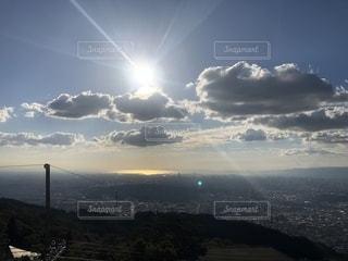 自然,風景,空,秋,雲,眺め,生駒山,山上