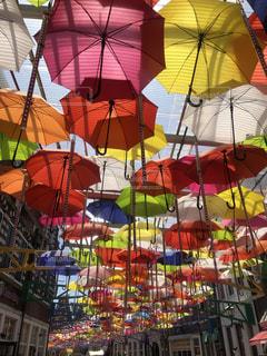 風景,傘,カラフル,アート,鮮やか,長崎県,アンブレラスカイ