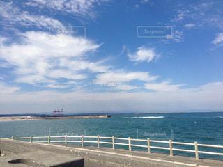 自然,海,空,景色,青い,秋空