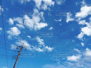 空,雲,青空,電線,日中