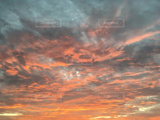 自然,空,雲,朝焼け,秋空