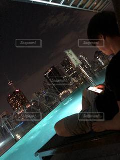 空,絶景,屋外,綺麗,プール,観光,旅行,屋上,マレーシア,ペトロナスツインタワー,インスタ映え