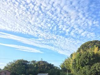 空,雲,山,秋空,まだら