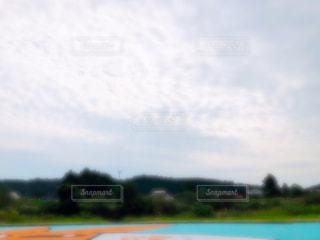 公園,秋,雲,河川敷,野外,秋空,日中,ウロコ雲
