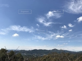 空,秋,木,雲,秋空