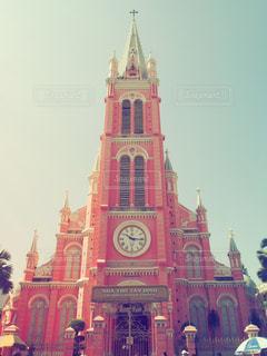 建物,ピンク,観光,教会,ベトナム,ホーチミン,pink,崇拝場