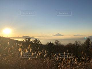 自然,風景,空,富士山,太陽,山,景色,光,日の出