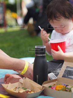 子ども,食べ物,秋,食事,お弁当,野菜,ワンプレート,ピクニック,ボトル,ごはん,男の子,タンブラー