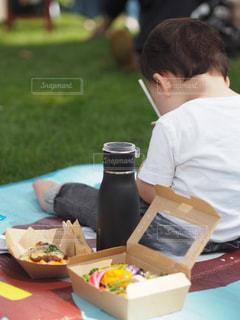 子ども,食べ物,秋,食事,お弁当,野菜,ワンプレート,ボトル,男の子,タンブラー